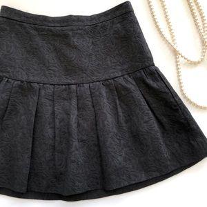 J. Crew black matelasse drop waist skirt